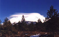 Lenticular Clouds over mt shasta,ca