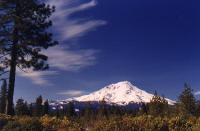 Mt. Shasta as seen from the southeast on Hwy 89